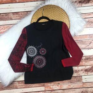 Desigual silk printed blouse